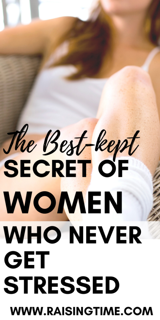 Women who never get stressed out