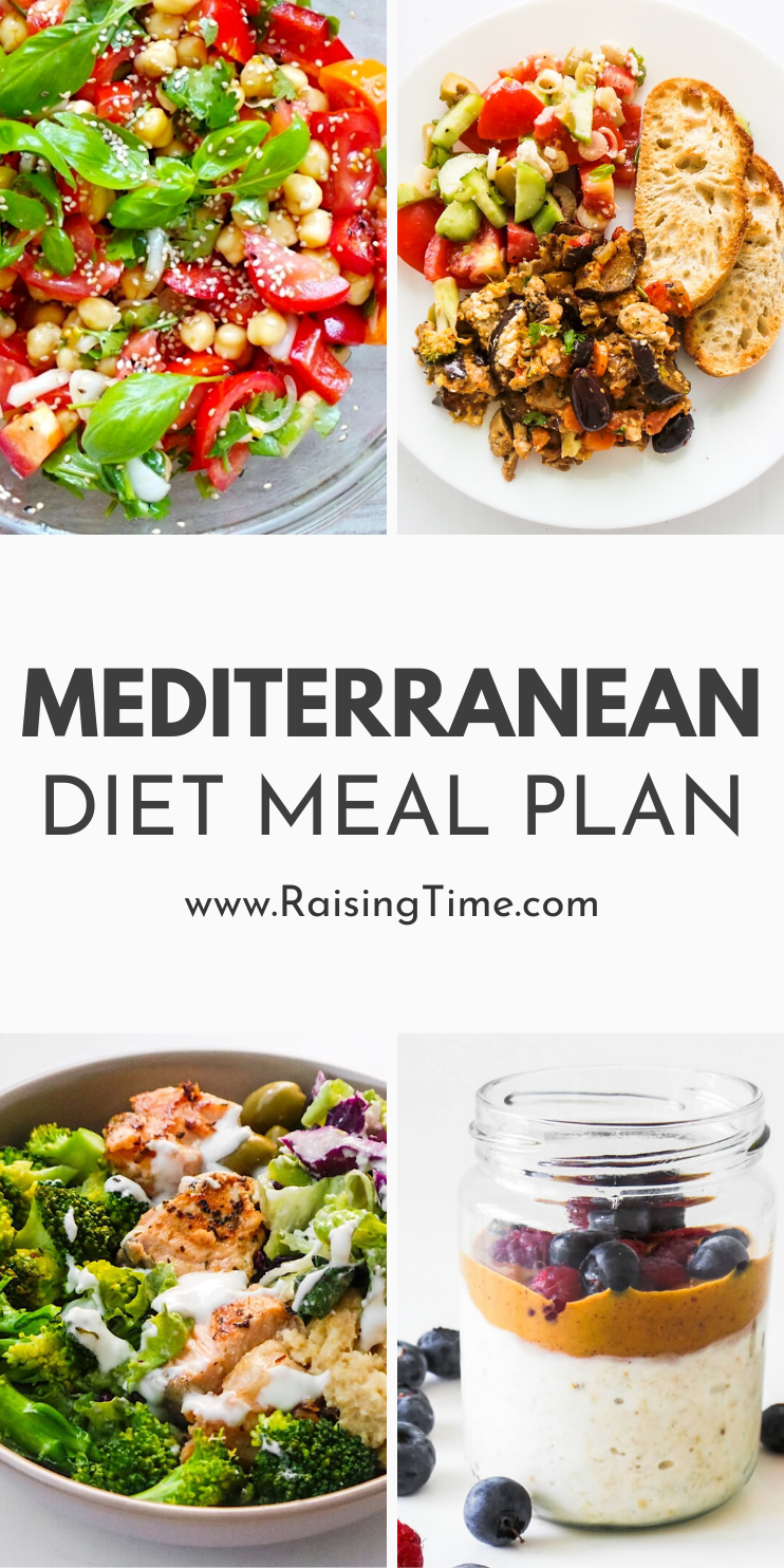 A one week Mediterranean diet meal plan including Mediterranean diet recipes for breakfast, lunch and dinner, snack suggestions are also included. This clean healthy eating meal plan also comes with a clean eating grocery list that is perfect for beginners.