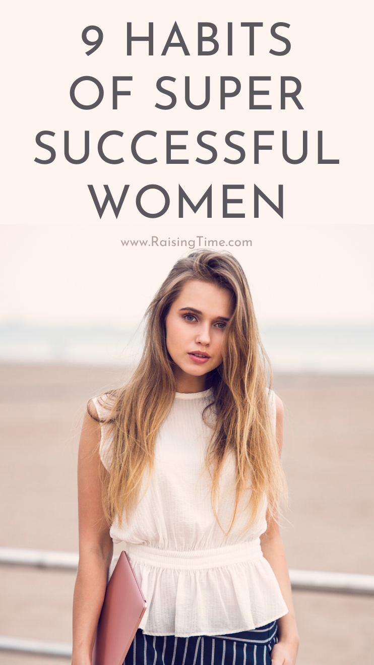 9 habits of successful women! If you want to achieve your goals and change your life for the better, learn from these success habits. Change your daily routine, start with your morning rituals, apply good productivity tips while working and make time for self-care as well.