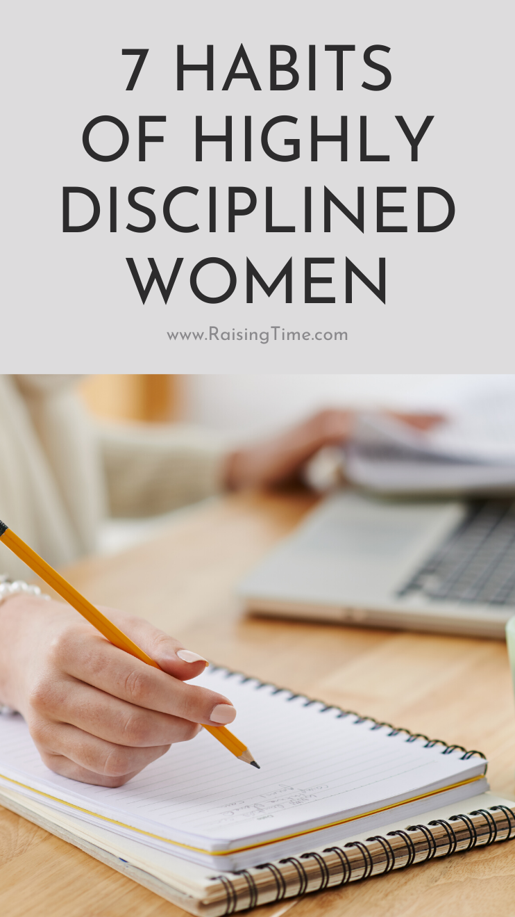 7 habits of highly disciplined women that can help you become more disciplined and develop more self-control! These daily habits can transform your life and help you achieve any goal you want.
