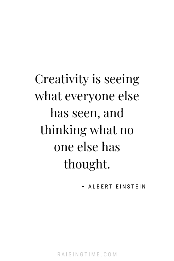 Creativity is seeing what everyone else has seen, and thinking what no one else has thought. -– Albert Einstein; inspirational quotes; motivational quotes; creativity quotes; Albert Einstein quotes