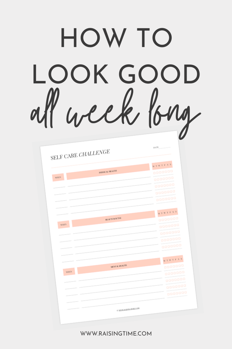How to look good all week long with beauty routine checklist!